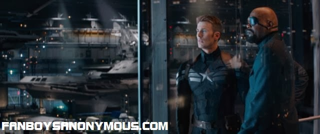 Captain America Steve Rogers and Nick Fury of SHIELD