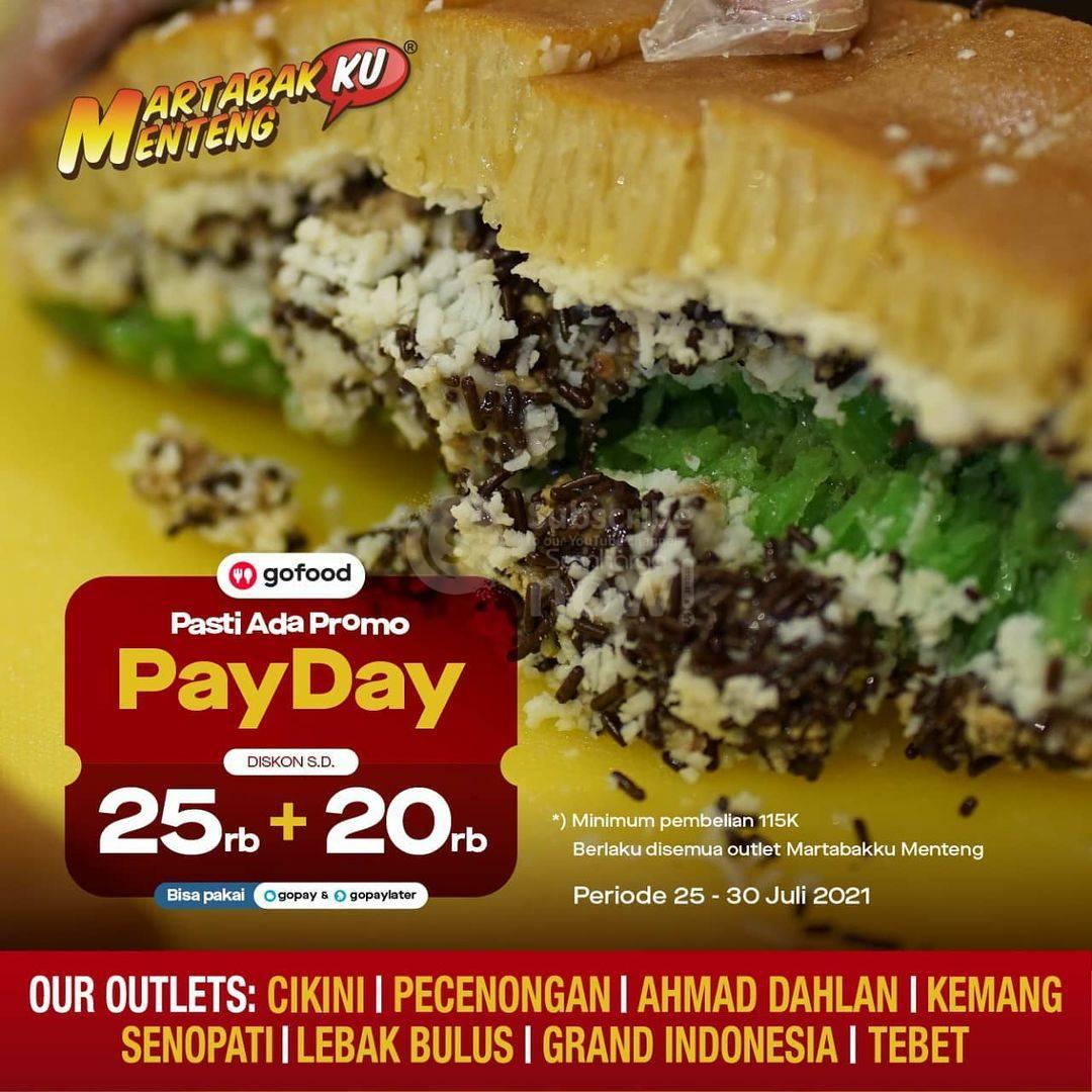 Martabakku Menteng Promo Payday Diskon 25K + 20K via Gofood