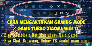 Cara Mengaktifkan Game Turbo Di Xiaomi MIUI 11