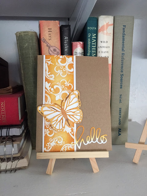 Inked Inspirations: Orange and White Embossing Resit Card