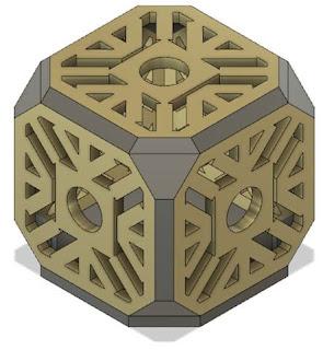 LED Holocron design
