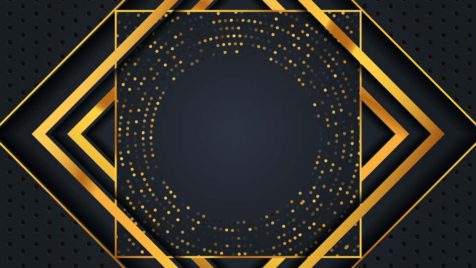 Luxury ppt background with gold effect