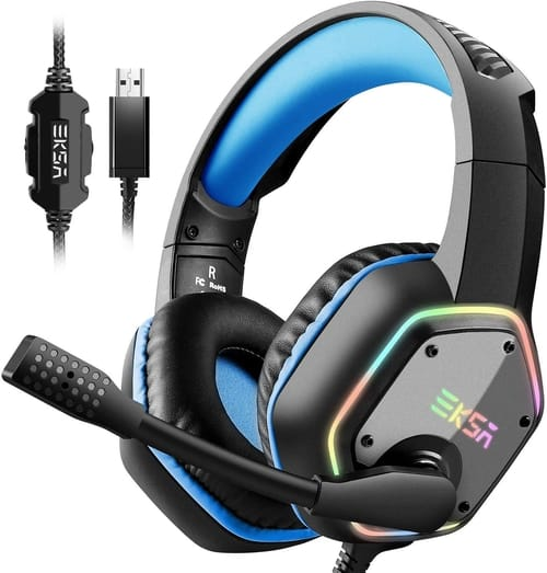 Review EKSA PS4 Gaming Headset with 7.1 Surround Sound Stereo
