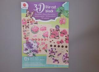 zakupy action blok z elementami 3D kwiaty
