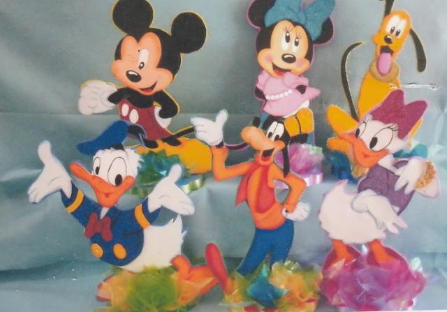 Moldes gratis para descargar de Mickey mouse, Minnie, Pluto, Donald, Daysi, Goofy.