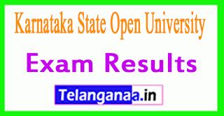 KSOU Karnataka State Open University Exam Results