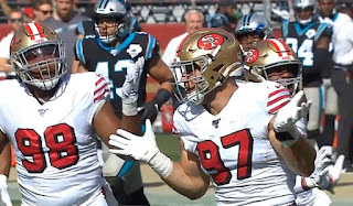 Nick Bosa picture | 49ers vs Panthers | week 9 | NFL