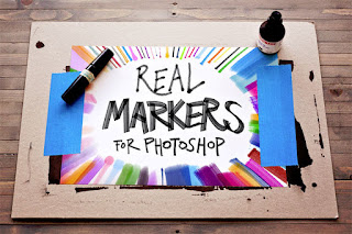 Free marker pen brushes for Photoshop