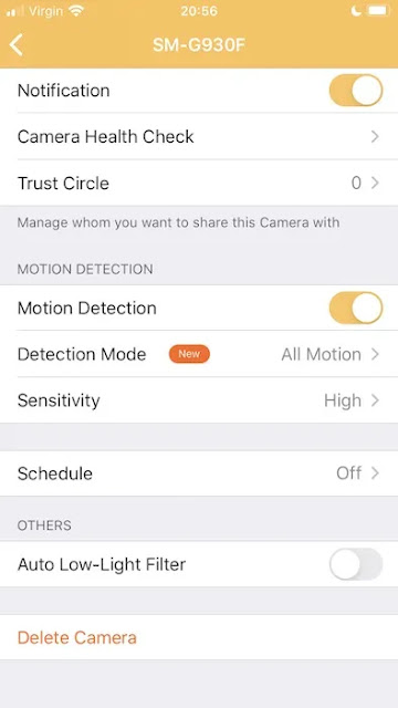 تشغيل كشف الحركة Motion Detection