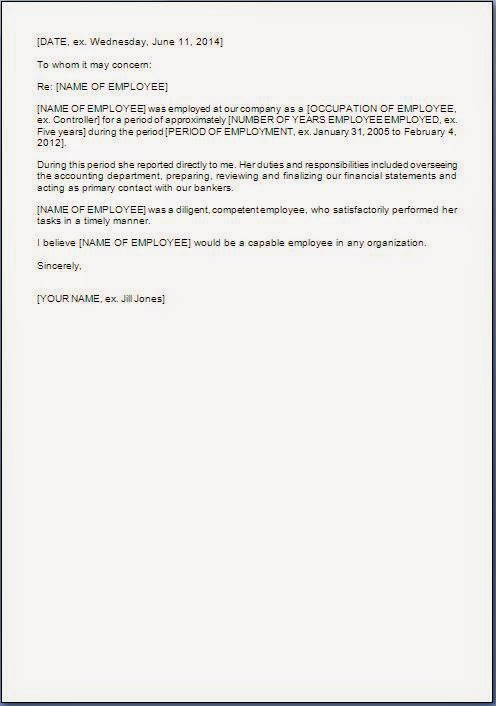Recommendation Letter For Former Employee Sample Letters Former Employee Recommendation Letter