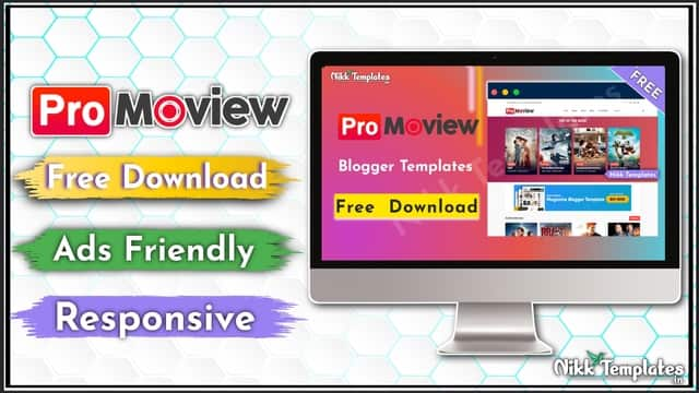 {Free} Moview Blogger Template Download - (Nikk Templates)