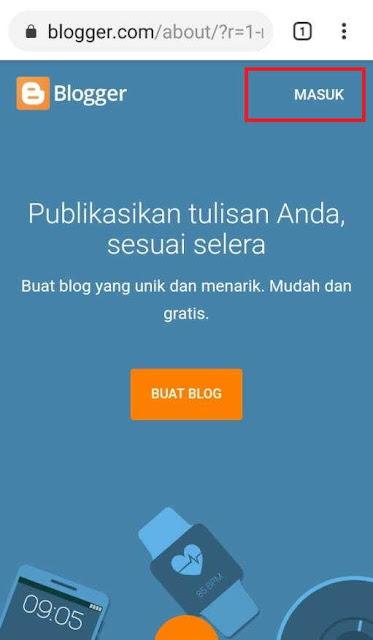 Cara Membuat Blog Di Blogger ( VIA HP)- santri dan alam