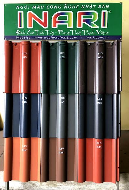Bảng màu ngói lợp Inari Luxury