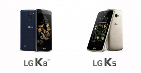 إل جي تكشف عن هاتفيها الجديدين K8 و K5