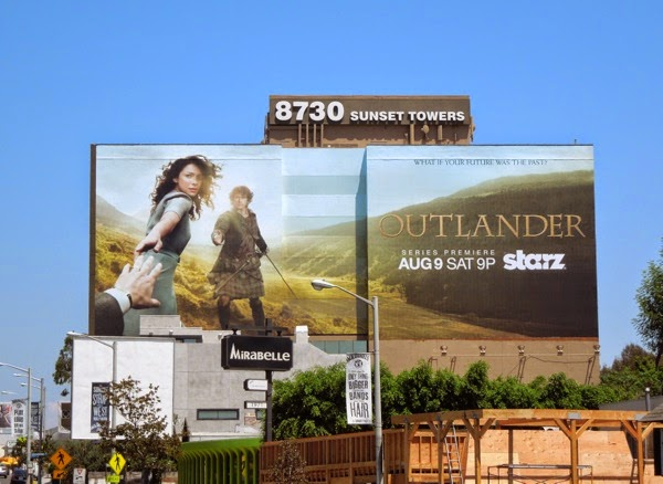 Giant Outlander season 1 Starz billboard