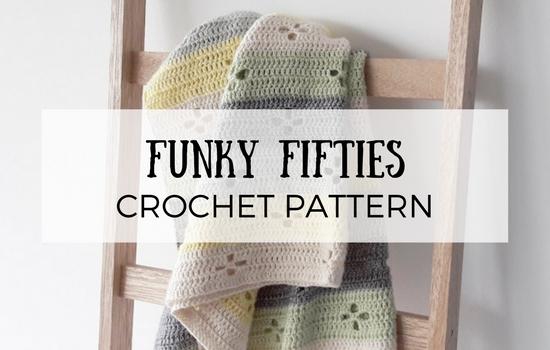 Funky fifties blanket, crochet pattern | Happy in Red