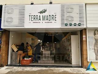 projeto arquitetura obra fachada loja produtos naturais orgânicos