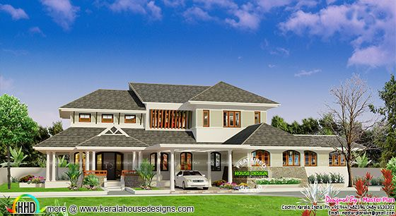 Sloping roof modern home 4300 sq-ft