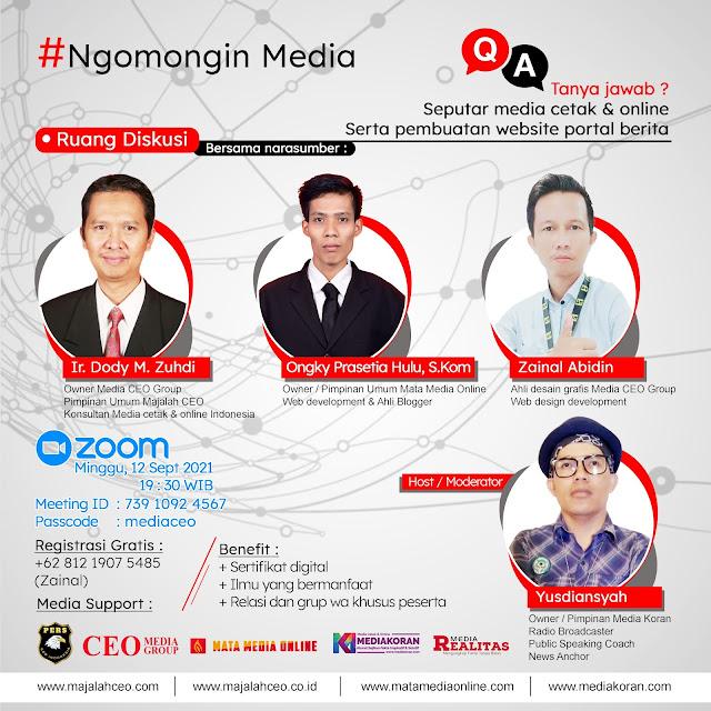 Webinar Tanya Jawab Seputar Media Cetak dan Media Online