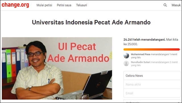 Dinilai Bikin Gaduh, 24 Ribu Orang Teken Petisi UI Pecat Ade Armando
