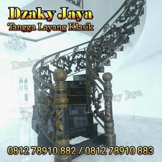 Projek railing tangga besi tempa / railing tangga tempa mewah Jakarta