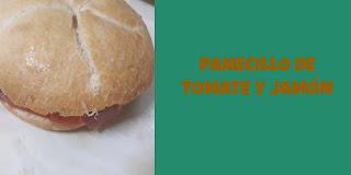 Panecillo con tomate y jamón serrano