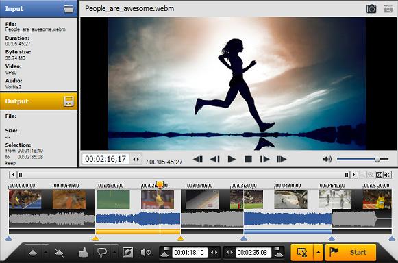 برنامج تقطيع الفيديو اجزاء صغيرة للكمبيوتر AVI TRIMMER+
