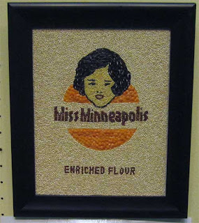 Miss Minneapolis, woman's face in a cartouche