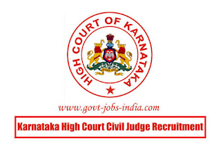 Karnataka High Court Civil Judge Recruitment 2020