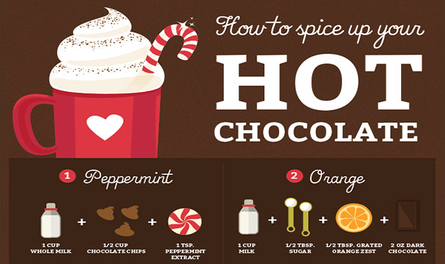 18 Hot Chocolate Recipes That Will Change the Way You Feel About Winter #infographic