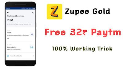 Zupee Gold Free Paytm cash