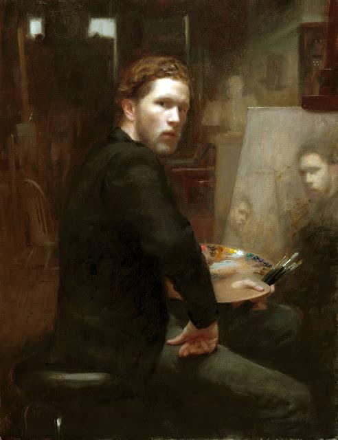 Joshua LaRock, Self Portrait, Portraits of Painters, Fine arts, Portraits of painters blog, Paintings of Joshua LaRock, Painter Joshua LaRock