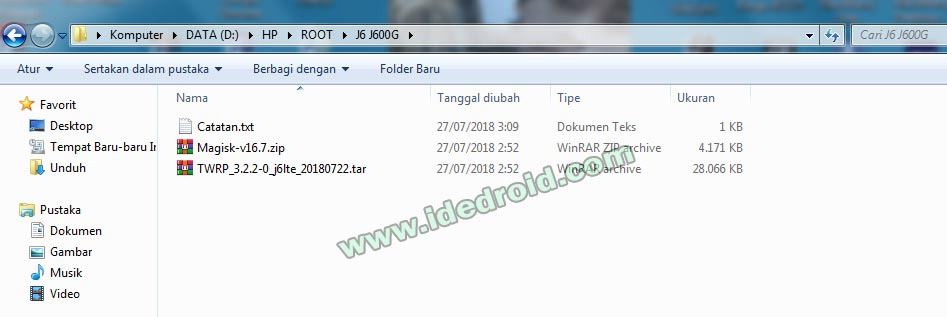 Cara Root Instal TWRP Samsung J6 SM-J600G/DS | Ide Droid