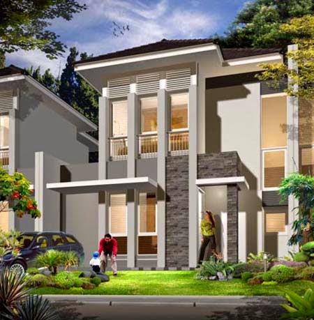Desain Rumah Mungil Minimalis 2 Lantai