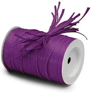 Best Purple Raffia Ribbon For Gift Wrap Craft Packaging and Decoration