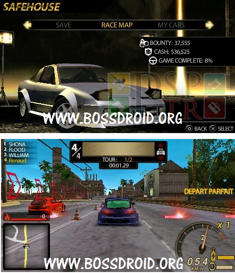 Download NFS Undercover PPSSPP PSP ISO for Emulator Android