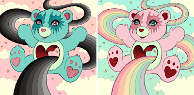 Five Points Festival 2018 Exclusive Tenderheart Care Bear Prints by Tara McPherson