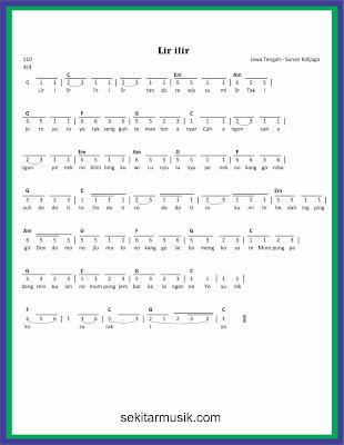 Lir Ilir Chord : chord, Lirik, Tengah, Sedang