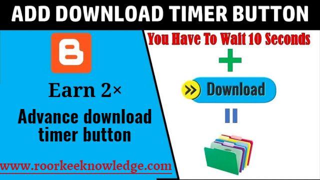 Blogger script Download Timer Button | Start Countdown 10 second