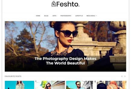 Feshto premium Blogger template   free premium template download