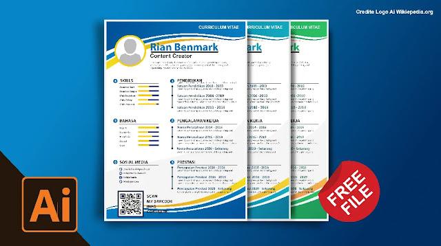 CV Kreatif CorelDraw : Download Kumpulan Contoh Curriculum Vitae Coreldraw Dan Illustrator