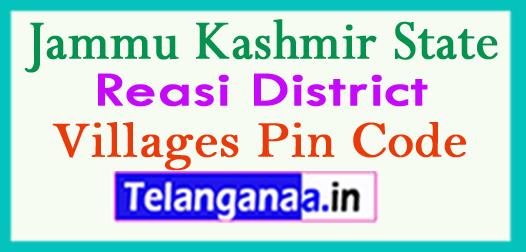 Reasi District Pin Codes in Jammu Kashmir State