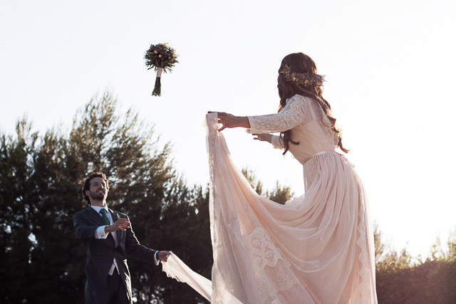 boda madrid finca vestido novia helena mareque romantic wedding spain