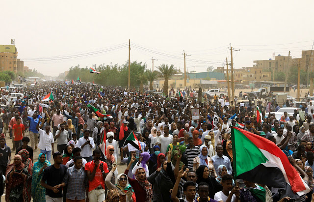 Khartoum protests on 30 June 2019 by Reuters