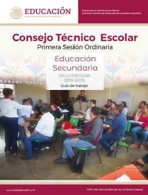 CONSEJO TÉCNICO ESCOLAR: GUIA DE LA PRIMERA SESION 2019-20