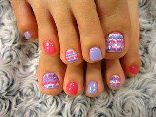easter toe nail