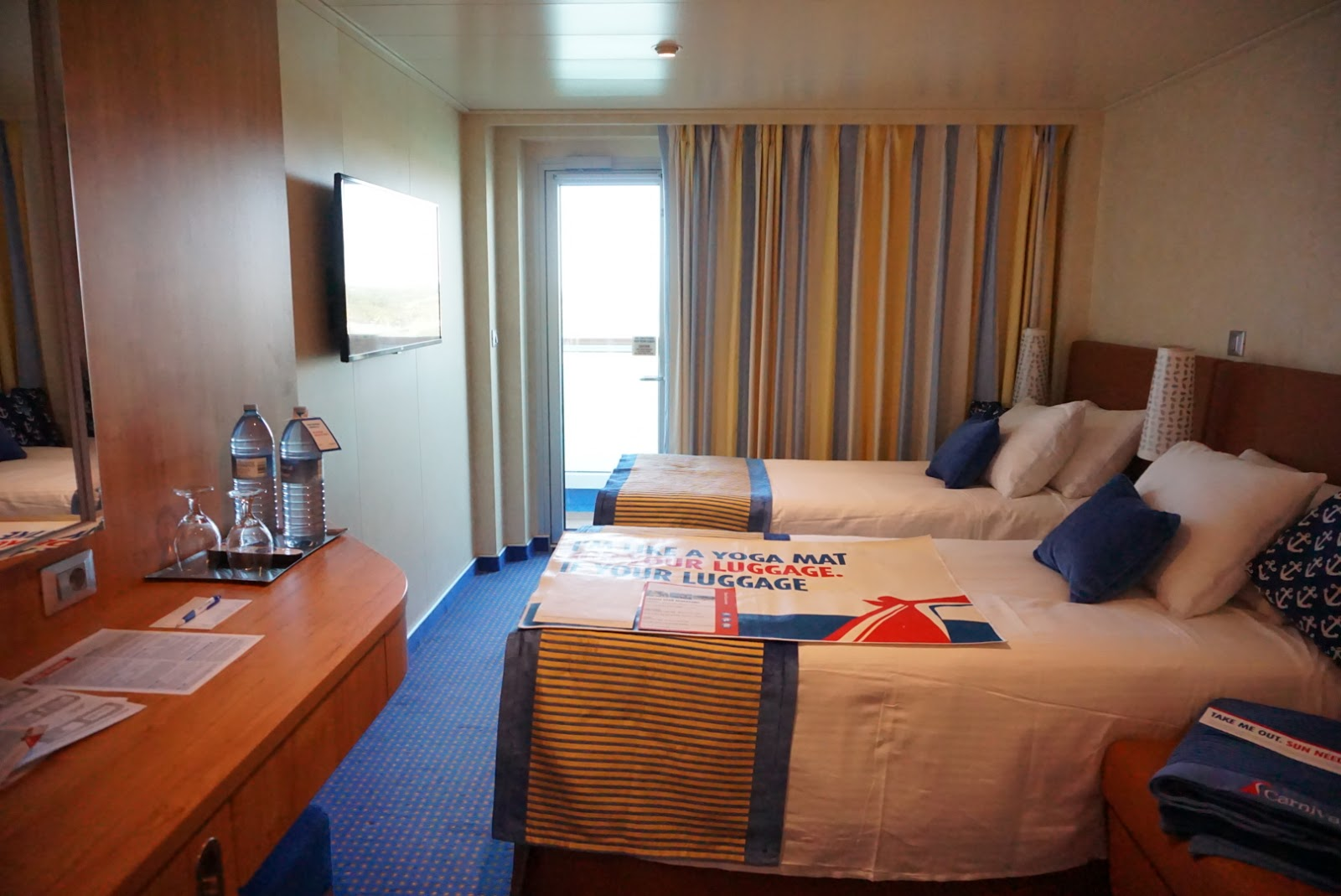 Carnival Vista Balcony Room Walk-thru