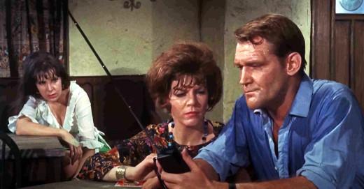 Jane Merrow, Sarah Lawson and Patrick Allen in Night of the Big Heat, 1967