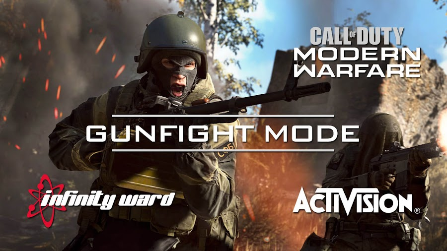 call of duty modern warfare gunfight mode 1v1 and 3v3 multiplayer infinity ward activision first-person shooter cod