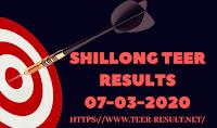 Shillong Teer Results Today-07-03-2020